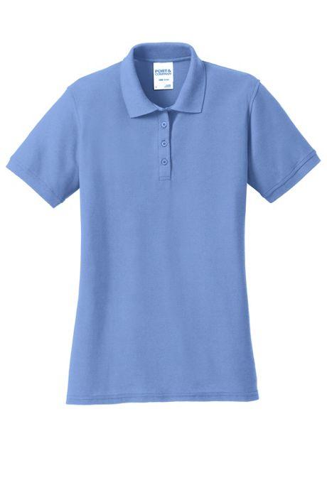 Port & Company Women's Regular Embroidered Logo Core Pique Polo Shirt