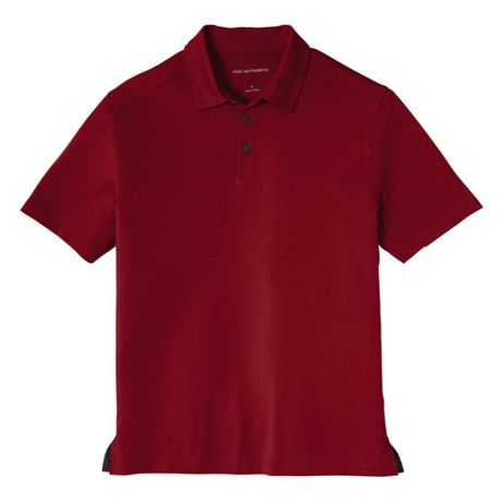 Port Authority Men's Regular Embroidered Logo Polyester Stretch Polo Shirt