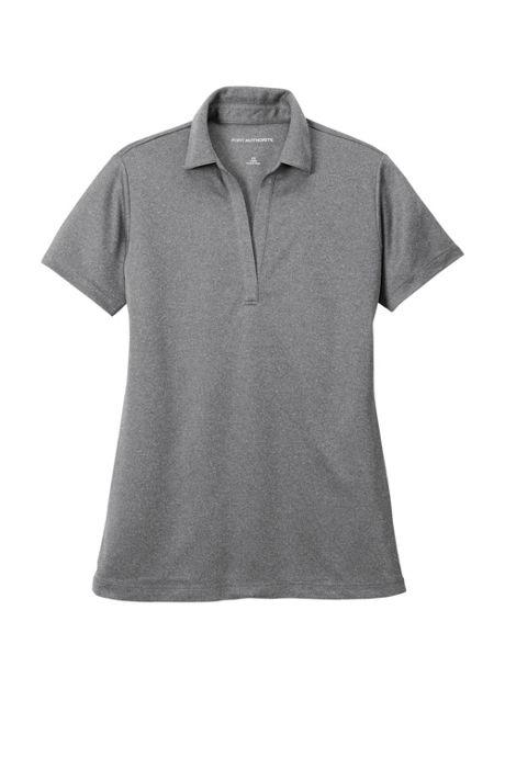 Port Authority Women's Regular Heathered Silk Touch Performance Polo Shirt