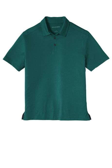 Port Authority Men's Big Embroidered Logo Polyester Stretch Polo Shirt