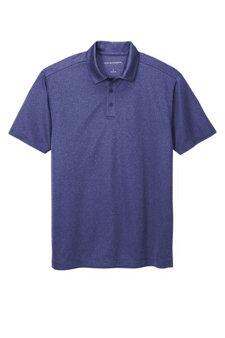 Port Authority Men's Regular Heathered Silk Touch Performance Polo Shirt
