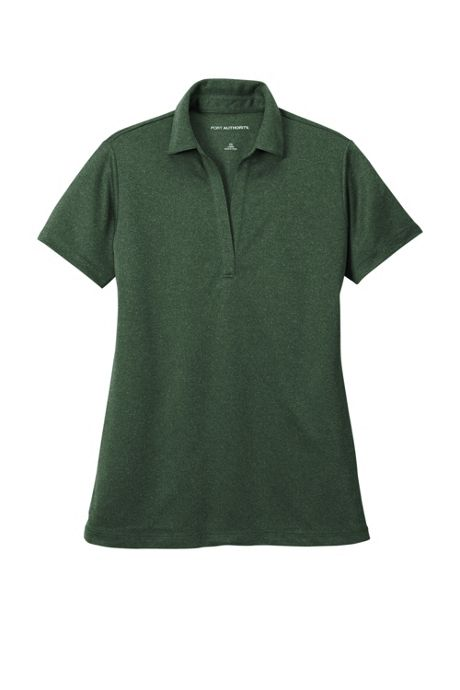 Port Authority Women's Plus Size Heathered Silk Touch Performance Polo Shirt
