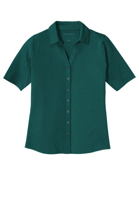 Stop Sale Port Authority Women's Regular Embroidered Logo Polyester Stretch Polo Shirt
