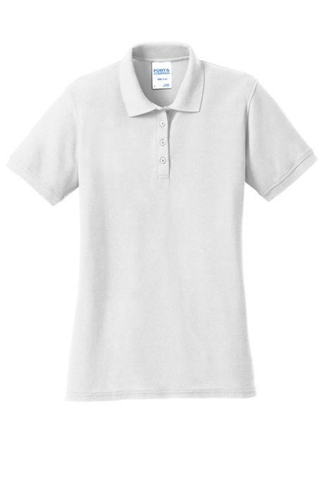 Port & Company Women's Plus Size Embroidered Logo Core Pique Polo Shirt