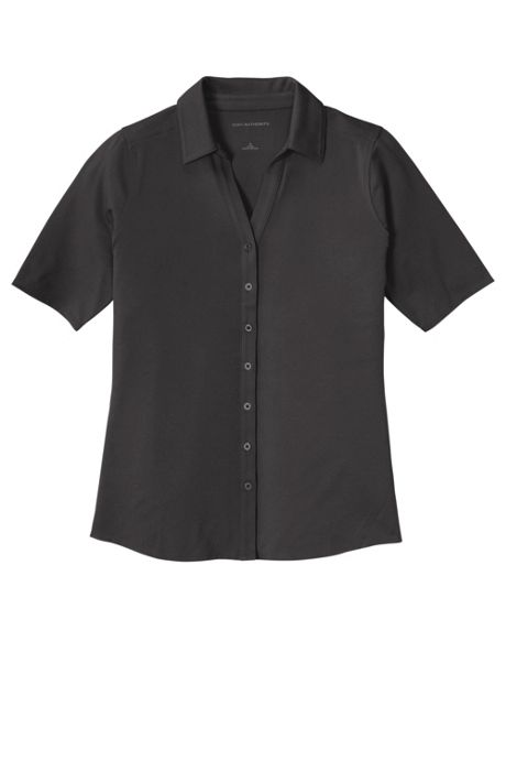 Port Authority Women's Plus Size Embroidered Logo Polyester Stretch Polo Shirt