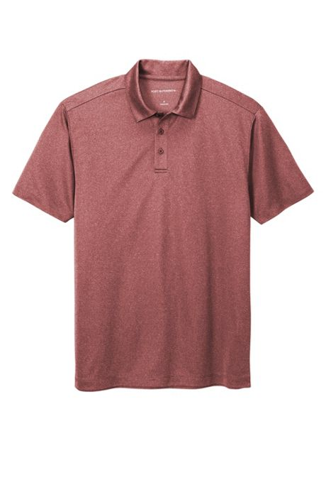 Port Authority Men's Big Heathered Silk Touch Performance Polo Shirt