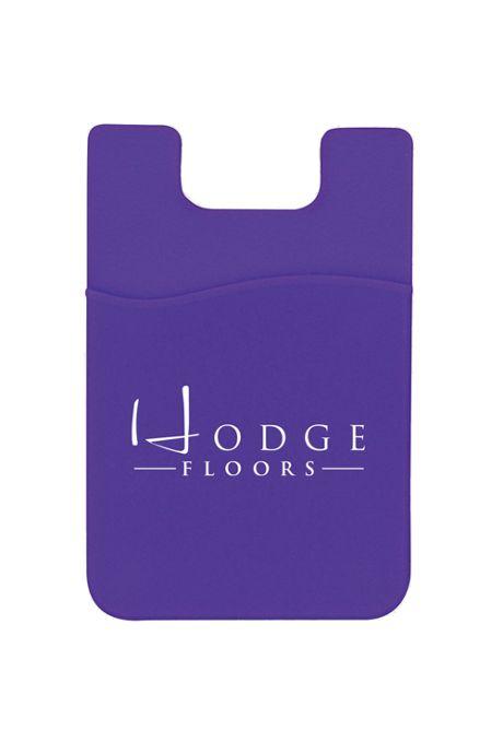 Silicone Custom Logo Mobile Device Pocket Card Holder