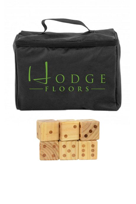 Oversize Wooden Yard Dice Game with Custom Logo Bag