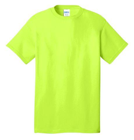Port & Company Unisex Big Plus Size Logo Screen Print Cotton T-Shirt