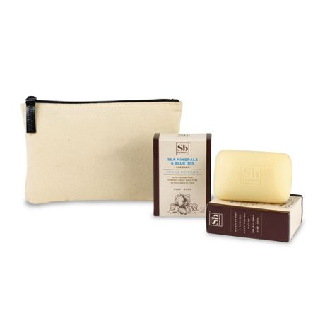 Soapbox Two Bars of Soap and Custom Logo Zippered Pouch Gift Set