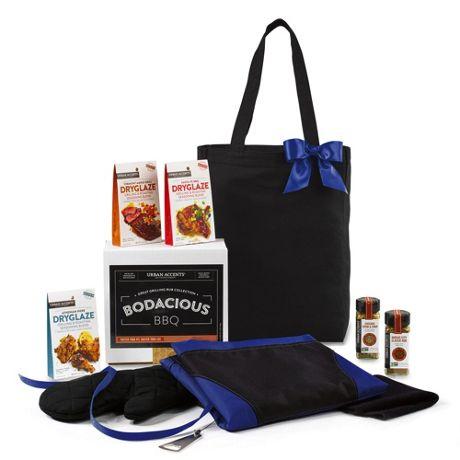 Bodacious BBQ Gift Set with Custom Logo Tote Bag and Apron