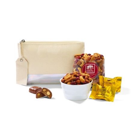 Sweet Thanks Custom Logo Pouch with Gourmet Snacks Gift Set