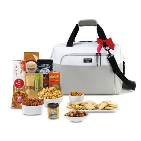 Igloo Team Spirit Custom Logo Seadrift Cooler with Snacks Gift Set