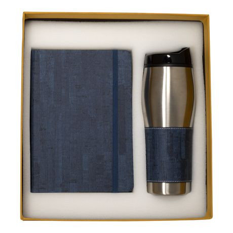 Casablanca Custom Logo 16oz Travel Tumbler and Journal Gift Set