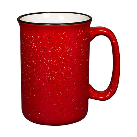 13oz Custom Logo Tall Ceramic Campfire Coffee Mug