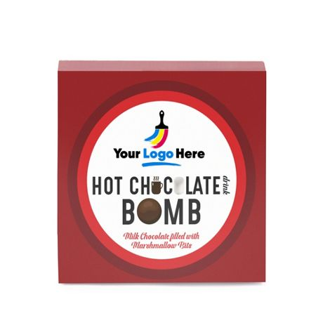 Hot Chocolate Bomb with Custom Logo Gift Box