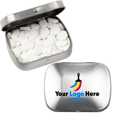 Peppermint MicroMints with Custom Logo Domed Tin