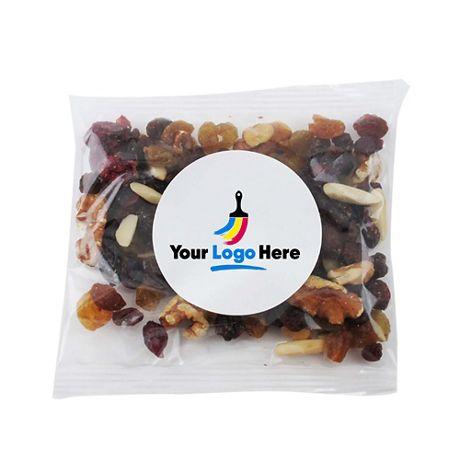 Raisin Nut Trail Mix with Custom Logo Snack Bag - 2oz