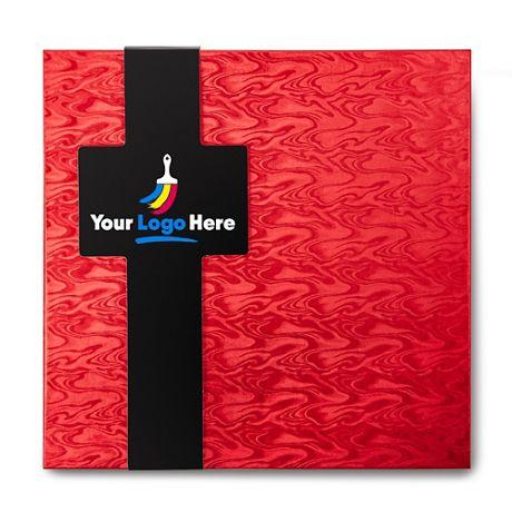 Sea Salt Caramels with Custom Logo Gift Box - 32 Pieces