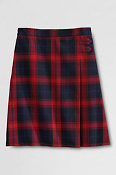 Girls' Plaid A-line Skirt
