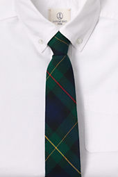 School Uniform Plaid Necktie