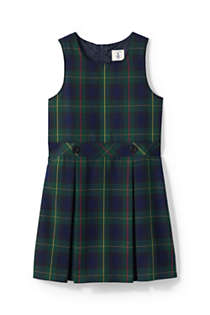 School Uniform Girls Uniform Plaid Jumper   , Front
