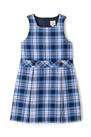 Girls Uniform Plaid Jumper