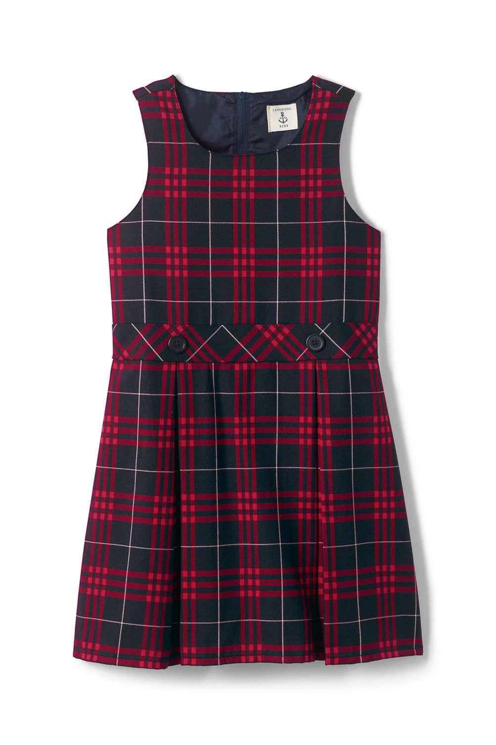 f5da11532 School Uniform Girls Plaid Jumper from Lands  End