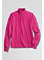 Unifarbener Baumwoll-Stehbundpulli mit langen Ärmeln für Damen