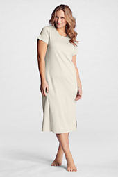 Women's Plus Size Short Sleeve Midcalf Sleep-T Nightgown