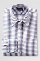 Men's Traditional Fit No Iron Straight Collar Pinpoint Dress Shirt