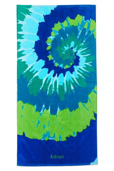 School Uniform Kids Swirl Tie Dye Beach Towel