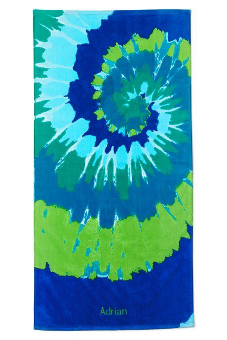 Kids Swirl Tie Dye Beach Towel