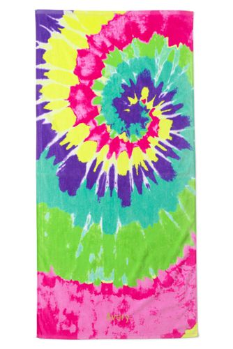 Kids Swirl Tie Dye Beach Towel