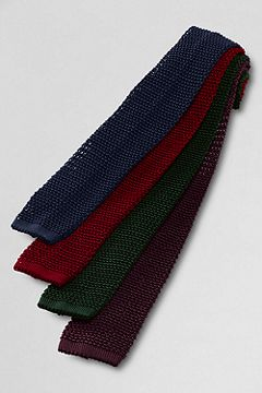 Narrow Silk Knit Necktie