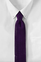 Men's Narrow Silk Knit Necktie