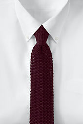 Men's Long Narrow Silk Knit Necktie