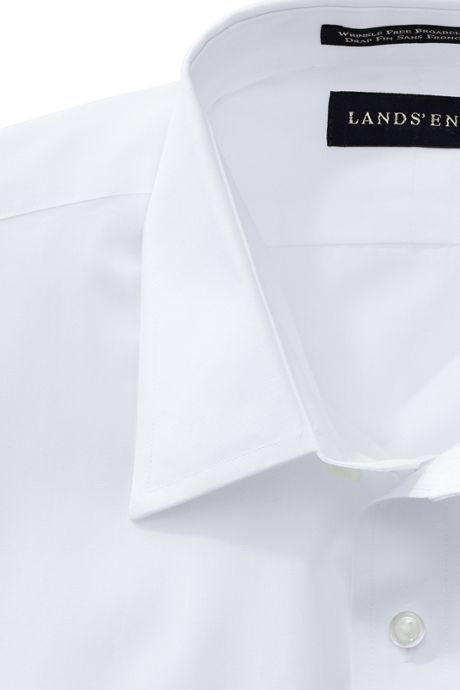 School Uniform Men's Big and Tall Long Sleeve Straight Collar Broadcloth Dress Shirt