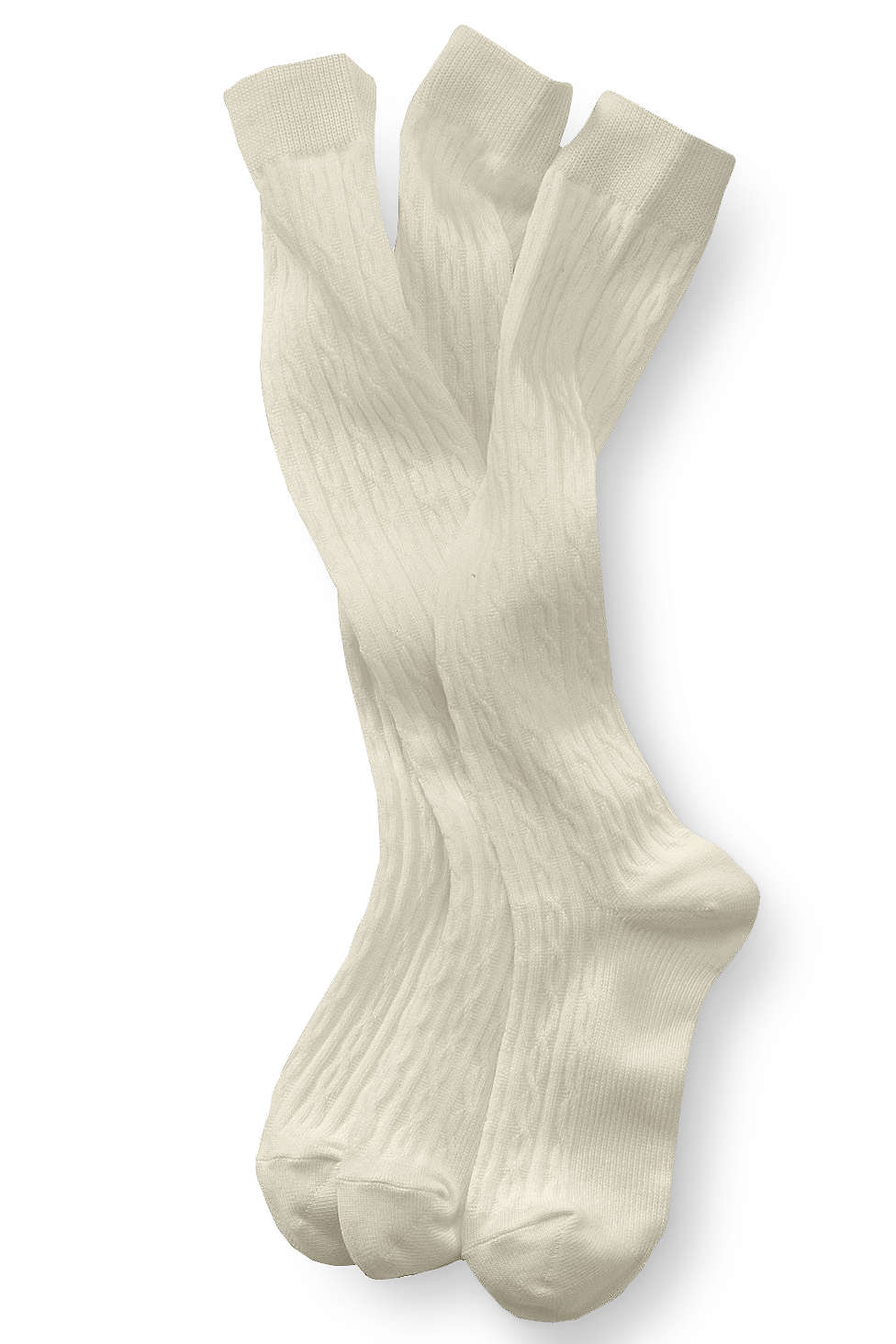 94704ea64 School Uniform Girls Solid Cable Knee Socks from Lands' End