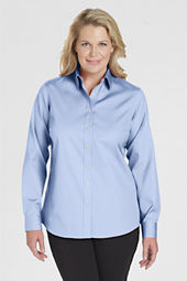 Women's Solid No Iron Pinpoint Cotton Shirt