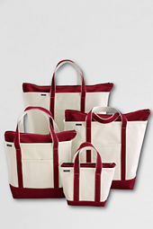 School Uniform Zip Top Canvas Totes