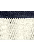 Stripe Cotton Raglan Crewneck Sweater 428122: White Canvas