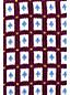 レディス・スーピマ・ファインゲージ・ダブルジャカード・オープンクルーネック・セーター/七分袖